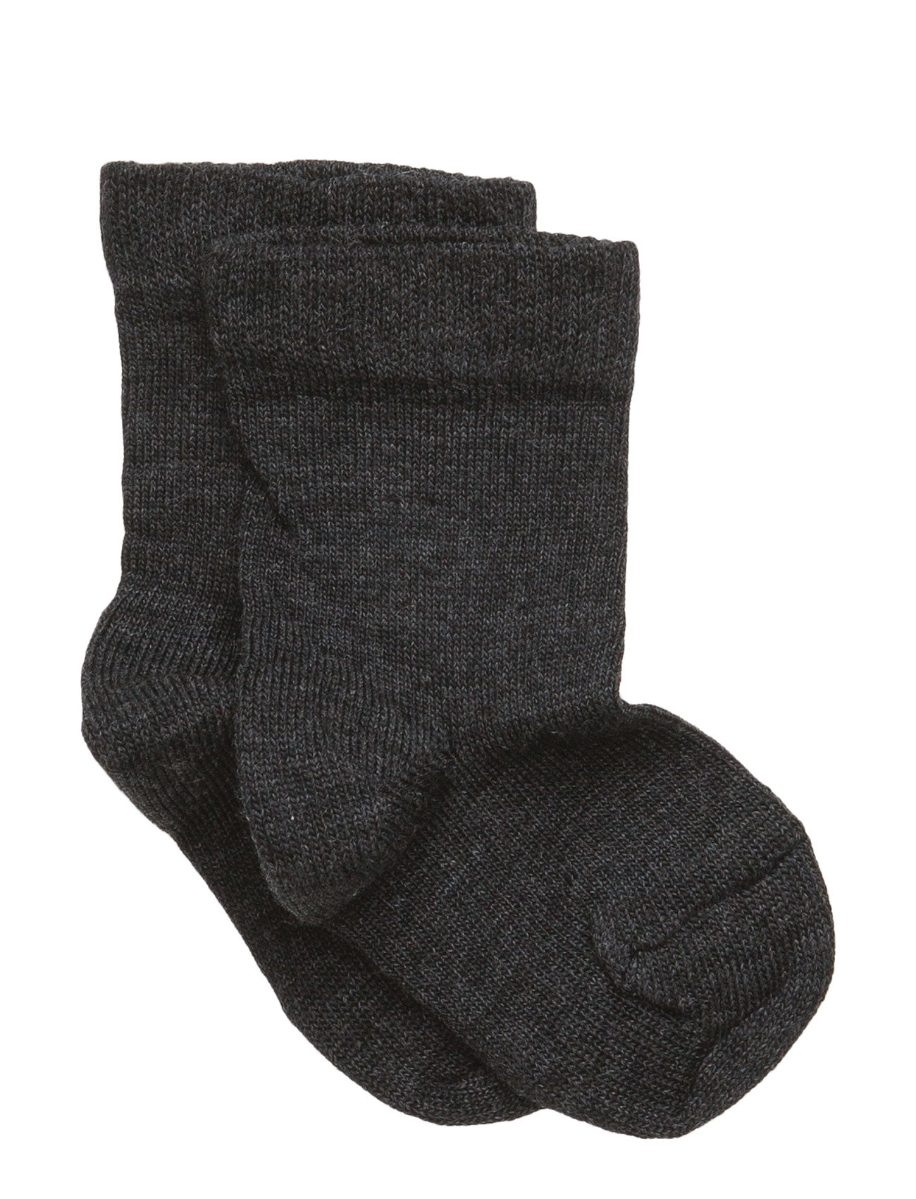 Melton Classic Superwash wool sock - DARK GREY MELANGE