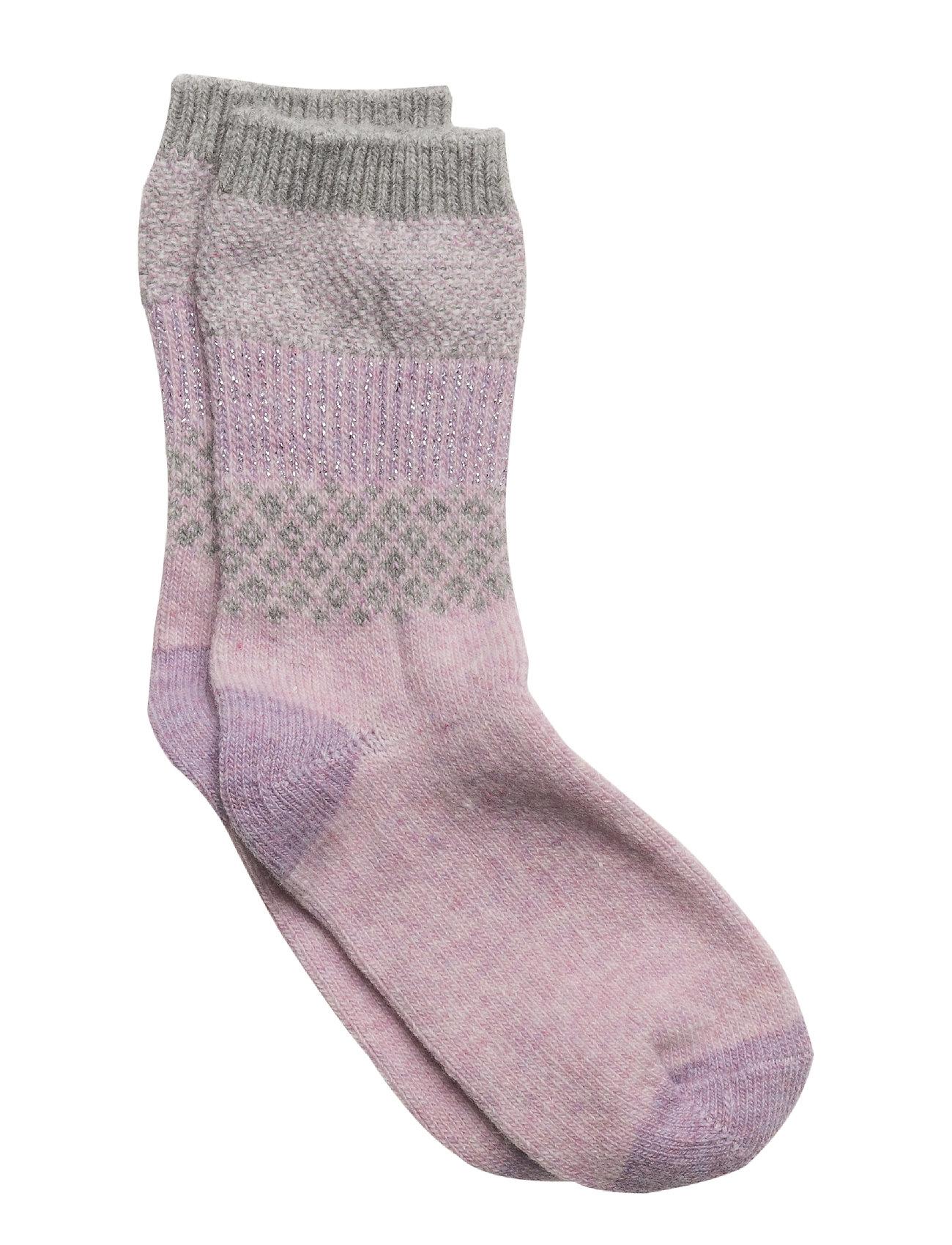 Melton Wool - Sock Girly w/Lurex - ALT ROSA