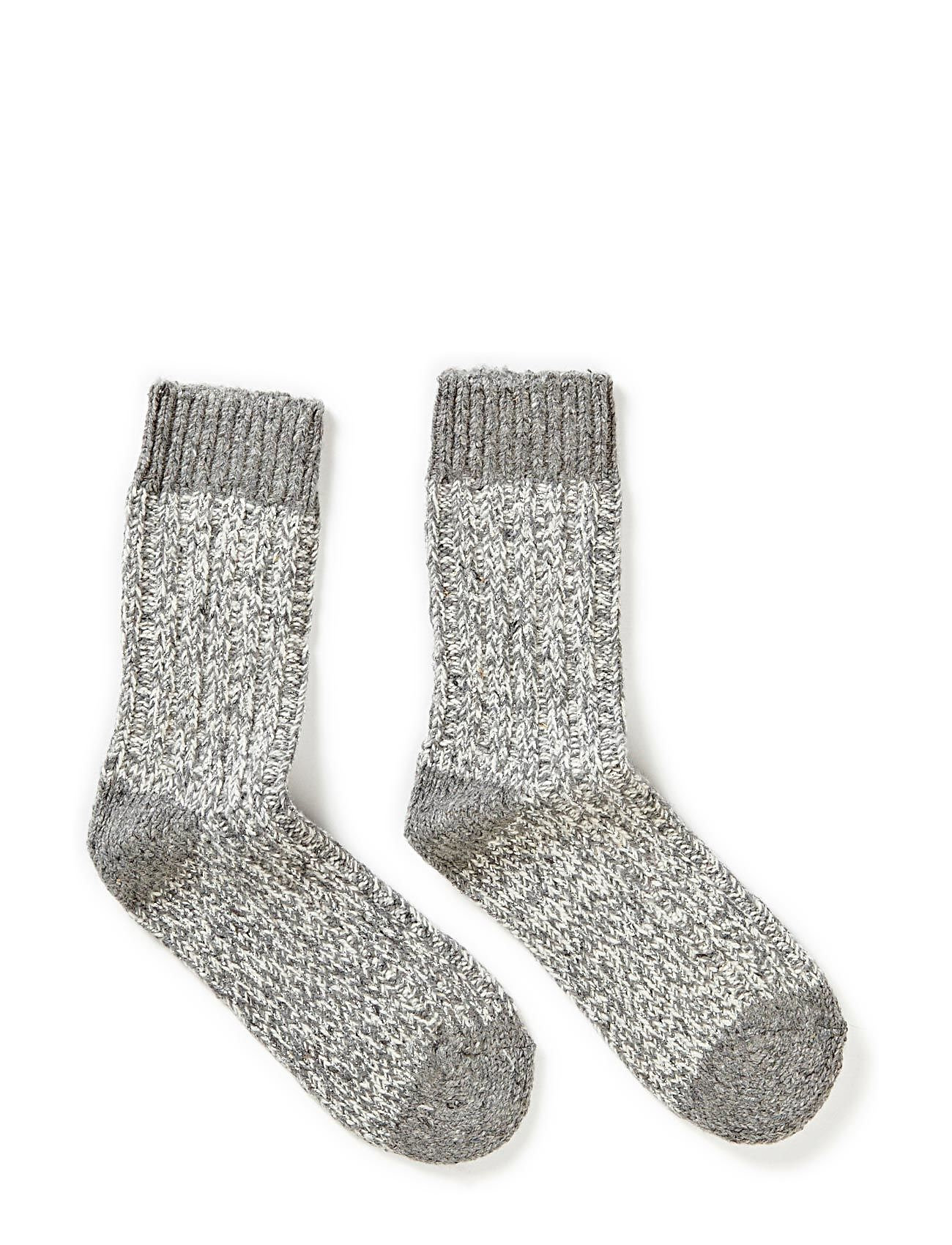 Melton Sock - Wool Lurex Rag - 135/LIGHT GREY MELANGE