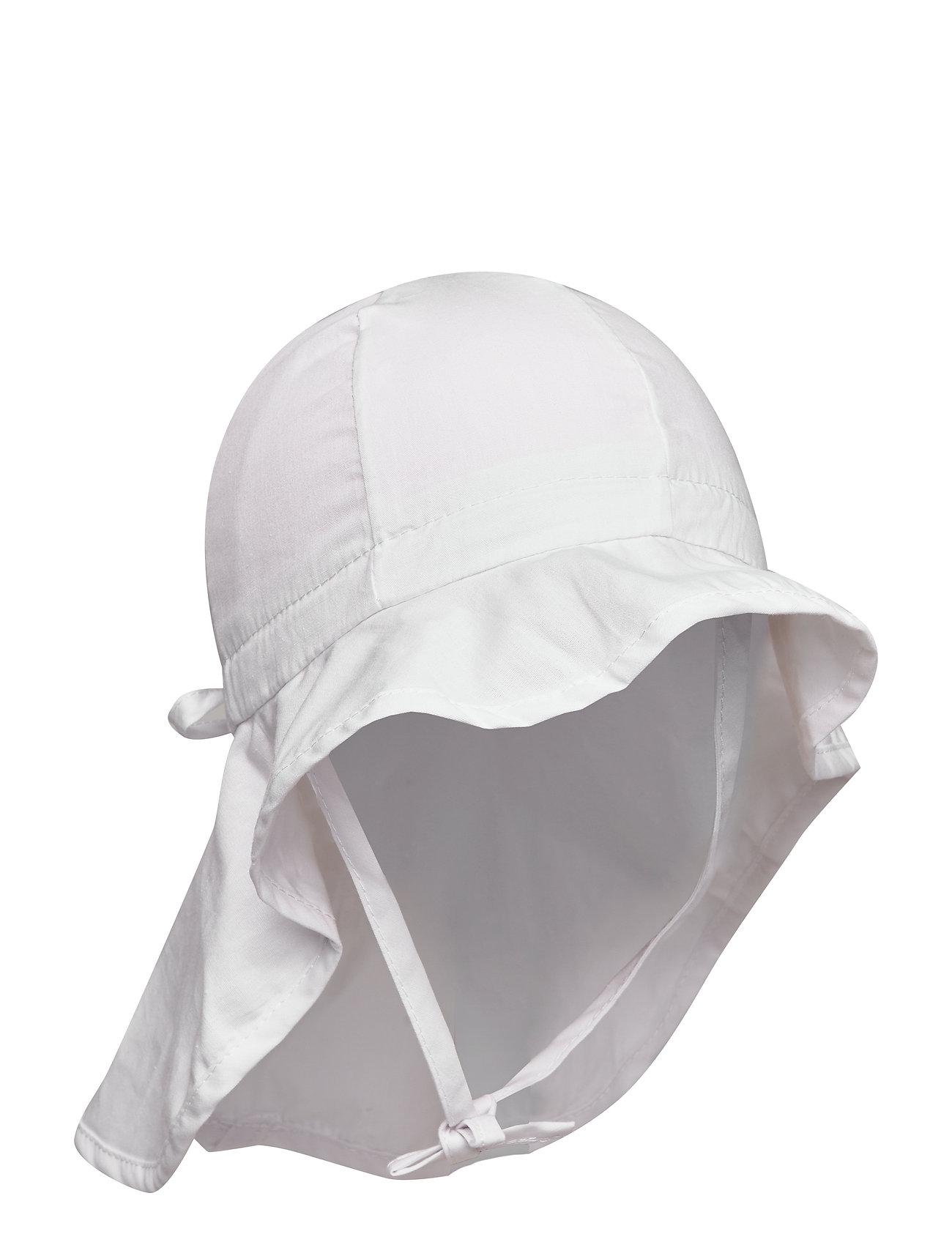 Melton Hat with neck & bow - WHITE