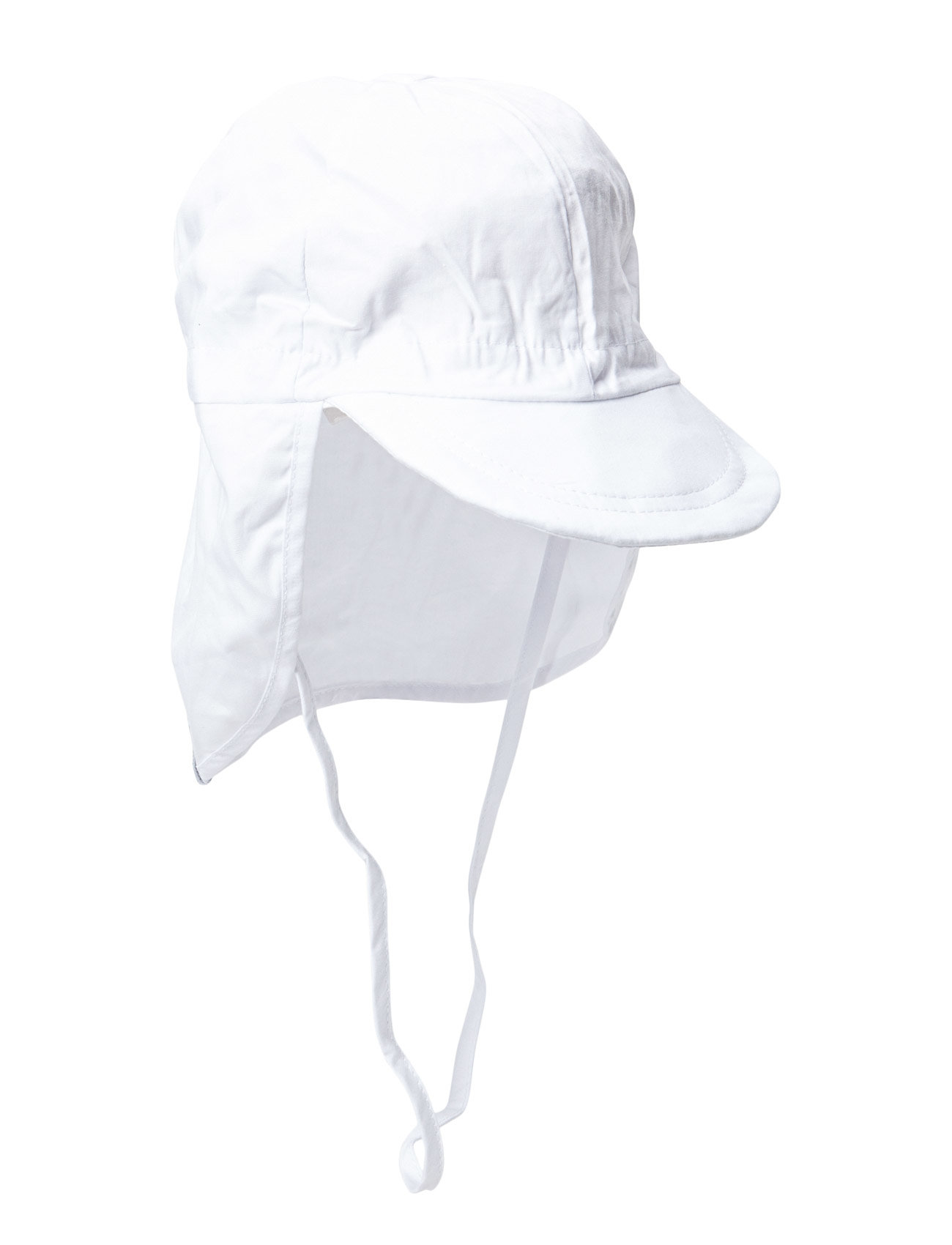 Melton Cap w/neck - Solid colour - 100/WHITE