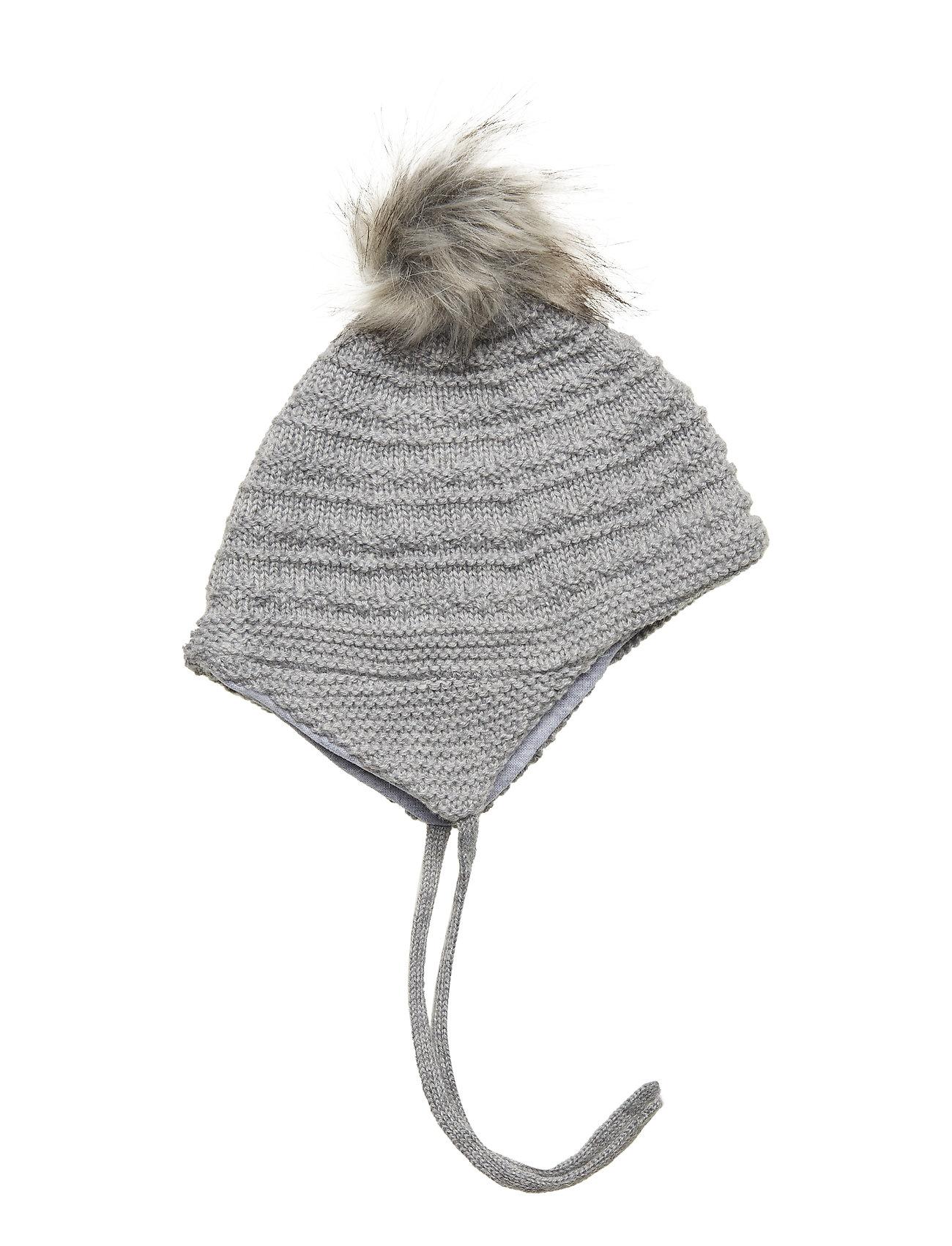 Melton WOOL Hat Baby - LIGHT GREY MELANGE
