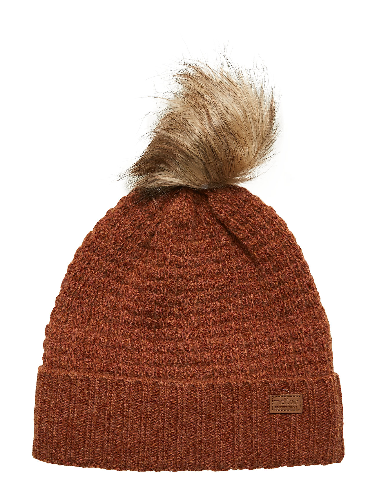 Melton LAMB WOOL Hat w. Structure - LEATHER BROWN