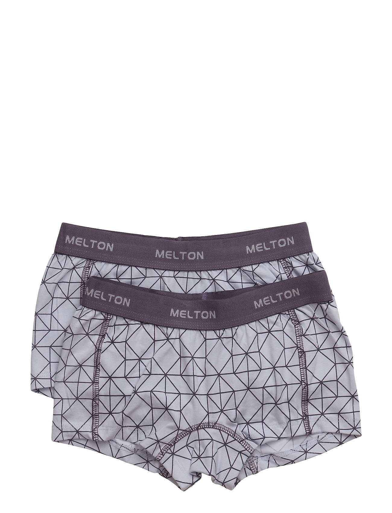 Melton Numbers, 2-pk AOP Girl Shorts