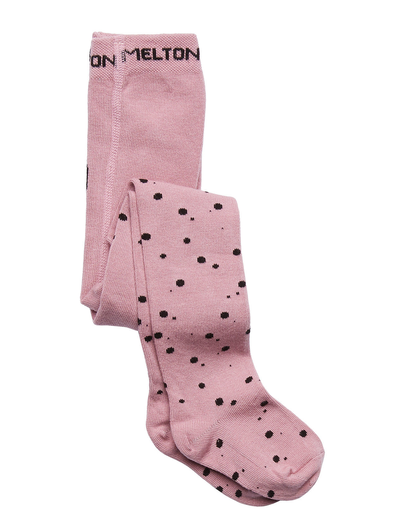 Melton BABYTIGHTS - Cute Cat - BLUSH ROSE