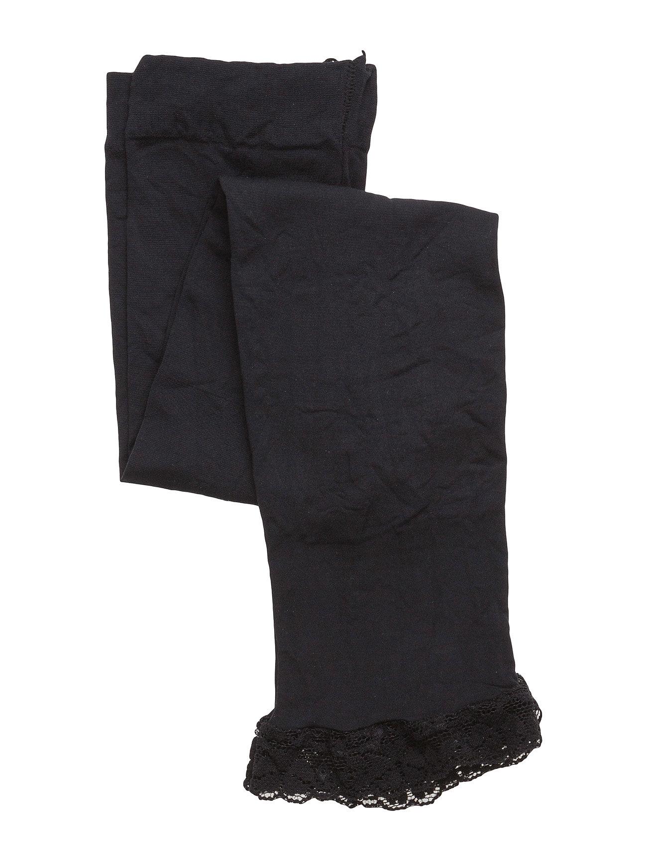 Image of Legging 40 Den W/Lace Edge Leggings Sort Melton (2421327375)