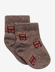 Melton - Baby Sock - Nuts & Leaves - skarpetki - denver - 0