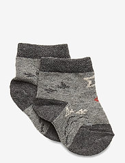 Melton - Baby Sock - Nuts & Leaves - skarpetki - light grey - 0