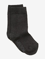 Melton - Sock , plain colour - skarpetki - 180/dark grey melange - 0