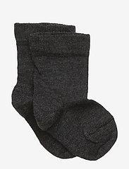 Melton - Classic Superwash wool sock - sukat - dark grey melange - 0