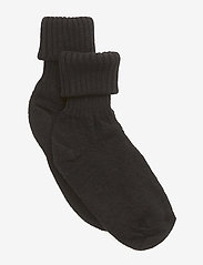Melton - Wool - Sock w. Rib Shaft - sokker - 190/black - 0