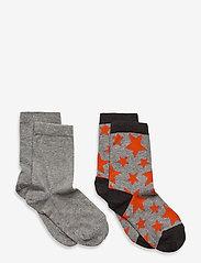 Melton - Max 2-pack socks - skarpetki - grey - 0