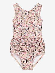 Melton - UV Swimsuit Flower - swimsuits - rose - 0