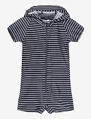 Melton - UV Swim Boy Suit Stripe - stroje kąpielowe uv - blue - 0