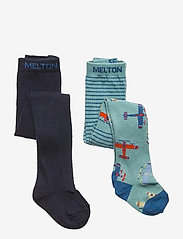 Melton - Gavin 2-pack tights - rajstopy - blue - 0