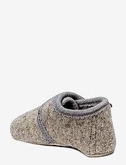 Melton - Wool soft shoe w/velcro - domowe - 135/light grey melange - 1