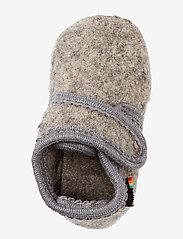 Melton - Wool soft shoe w/velcro - schuhe - 135/light grey melange - 2