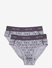 Melton - Numbers, 2-pk AOP Girl Briefs - bottoms - cloud lila - 0