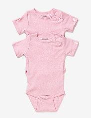 Melton - Numbers, 2-pk SS Rib Body - kurzärmelige - baby rose - 0