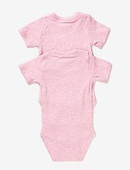 Melton - Numbers, 2-pk SS Rib Body - kurzärmelige - baby rose - 1