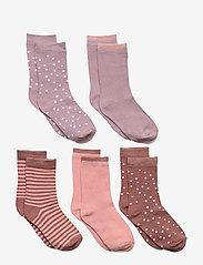 Melton - 5-Pack Socks - Girls - skarpetki - burlwood - 0