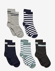 Melton - 5-Pack Socks - Girls - skarpetki - light grey - 0