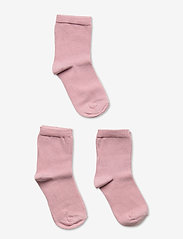 Melton - Numbers 3-pack Socks - Single - skarpetki - rose - 0