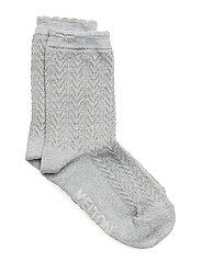SOCK - Romantic w. Lurex - All Sizes - LIGHT GREY MELANGE