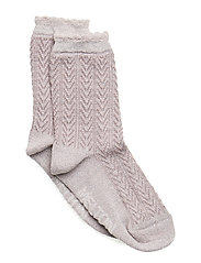 SOCK - Romantic w. Lurex - All Sizes - QUAIL
