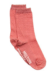 SOCK - Romantic w. Lurex - All Sizes - WATER MELON