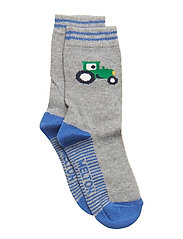 Babysock - Tractor - LIGHT GREY MELANGE