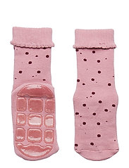 ABS TERRY Sock - Small Dots - BLUSH ROSE