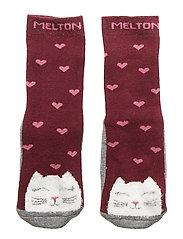 ABS TERRY Sock - Kitten - BORDEAUX