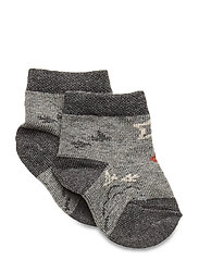 Baby Sock - Nuts & Leaves - LIGHT GREY