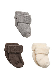 Baby terry cotton, 3-pack - 485/BROWN