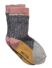 Sock - Colourblock w/Silver Lurex - MARINE
