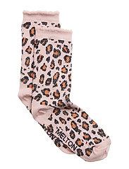 Sock - Leopard w/Lurex - ALT ROSA