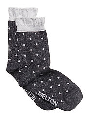 Sock - Dot w/Lurex - MARINE