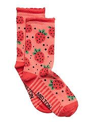 Sock - Strawberry w/Bubble Edge - WATER MELON