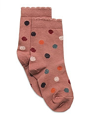 Ankle Sock - Glitter Dots - BROWN