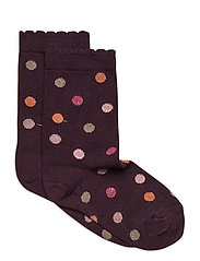 Ankle Sock - Glitter Dots - LILAC