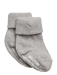 Baby sock, turn-up - 135/LIGHT GREY MELANGE