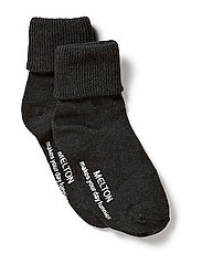 Baby sock, turn-up - 180/DARK GREY MELANGE