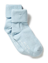 Baby sock, turn-up - 205/BABY BLUE