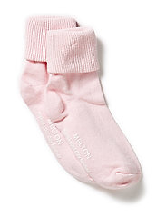 Baby sock, turn-up - 504/BABY PINK