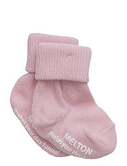 Baby sock, turn-up - 509/WILD ROSE