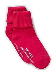Baby sock, turn-up - 525/PINK