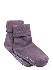 Baby sock, turn-up - QUAIL