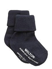 Baby sock, turn-up - 285/MARINE