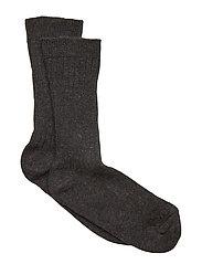 Sock All Size - Rib Basic - DARK GREY MELANGE